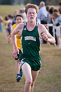Warwick, New York - Warwick hosts a high school cross country meet with Cornwall, Pine Bush and Washingtonville at Sanfordville Elementary School on Sept. 30, 2014. Cornwall's Aiden Doyle finished second in the boys' race.