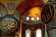 TURKEY, ISTANBUL, BYZANTINE Aya Sofya (Santa Sophia) mosaic