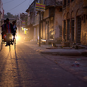 The streets of Agra old town