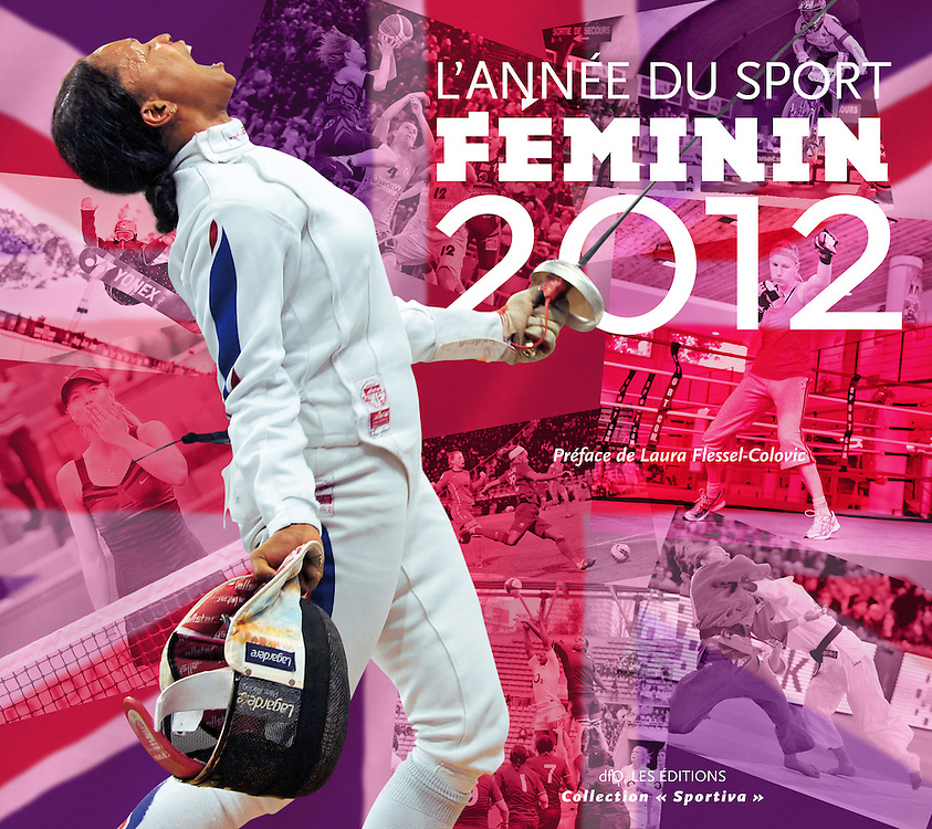 """Couverture de l'année du sport Féminin 2012 des éditions """"DFO, Les éditions""""."""