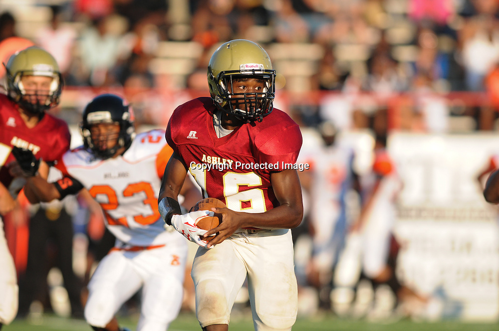Wallace-Rose Hill played Ashley High School in the first game of the 28th Annual BB&T Football Jamboree Friday August 15, 2014 at Legion Stadium in Wilmington, N.C. (Jason A. Frizzelle)