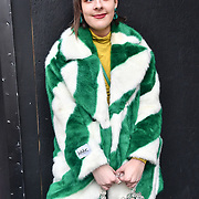 Street style at LFW AW19 last day at Strand, London, UK. 19 Feb 2019