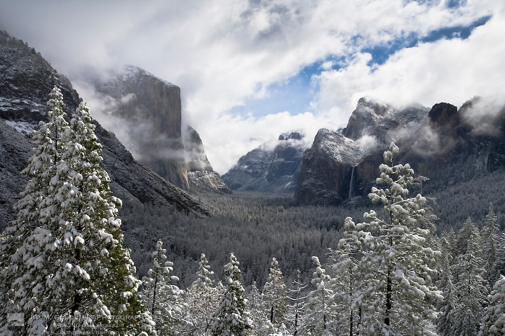 Yosemite valley in winter - Yosemite National Park, California