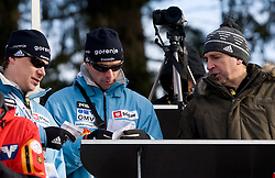 Nikola Ari-Pekka, Matjaz Zupan and Jelko Gros during Qualification round of the FIS Ski Jumping World Cup event of the 58th Four Hills ski jumping tournament, on January 3, 2010 in Bergisel, Innsbruck, Austria.(Photo by Vid Ponikvar / Sportida)