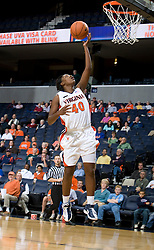 Virginia Cavaliers G Enonge Stovall (40) has an open look at the basket.  The Virginia Cavaliers women's basketball team faced Team Concept in an exhibition basketball game at the John Paul Jones Arena in Charlottesville, VA on November 5, 2007.