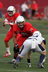 02 September 2017:   Drew Himmelman readies to block Danny Banks during the Butler Bulldogs at  Illinois State Redbirds Football game at Hancock Stadium in Normal IL (Photo by Alan Look)
