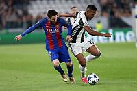 11.04.2017 - Torino  -  Quarti di finale  Champions League , Nella foto:  Lionel Messi in lotta con Alex Sandro