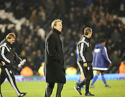 Fulham manager Stuart Gray not looking particularly  impressed after the loss during the Sky Bet Championship match between Fulham and Ipswich Town at Craven Cottage, London, England on 15 December 2015. Photo by Matthew Redman.