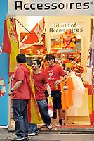 GEPA-2606087323 - WIEN,AUSTRIA,26.JUN.08 - FUSSBALL - UEFA Europameisterschaft, EURO 2008, Host City Fan Zone, Fanmeile, Fan Meile, Public Viewing. Bild zeigt Spanien-Fans. <br />Foto: GEPA pictures/ Reinhard Mueller