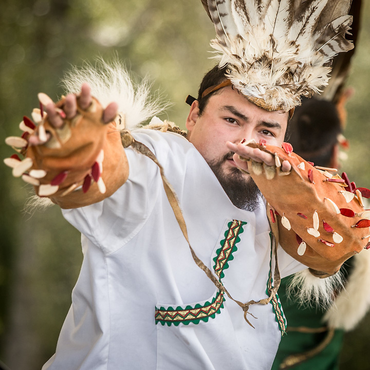 Brian Walker II and the King Island Dancers at the Gathering Place at the Alaska State Fair, Palmer, Alaska