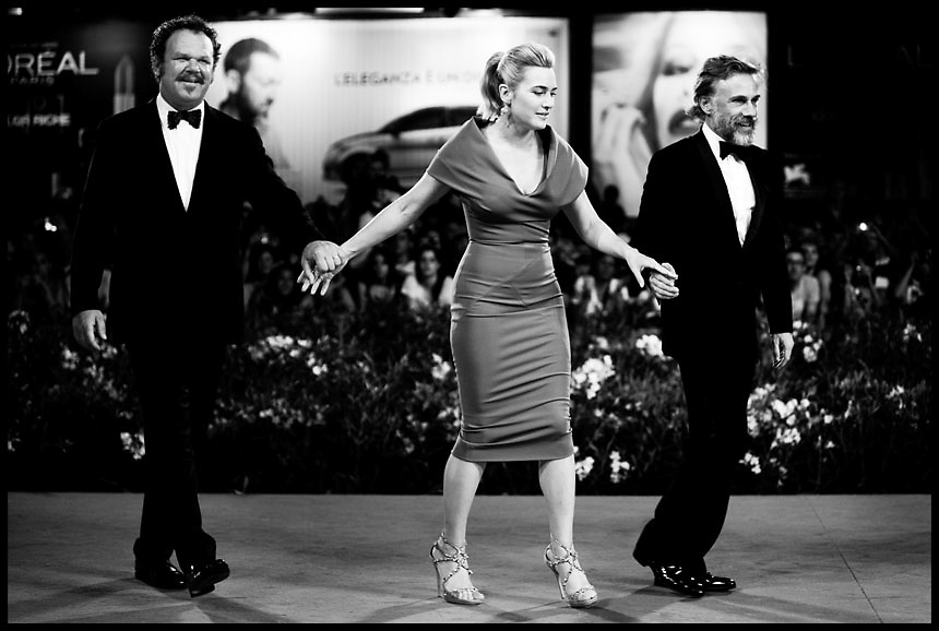 "Kate Winslet, Christoph Waltz and John C. Reilly attendsthe premiere of movie ""Carnage"" , directed by Roman Polanski, presented in competition at the 68th Venice International Film Festival."
