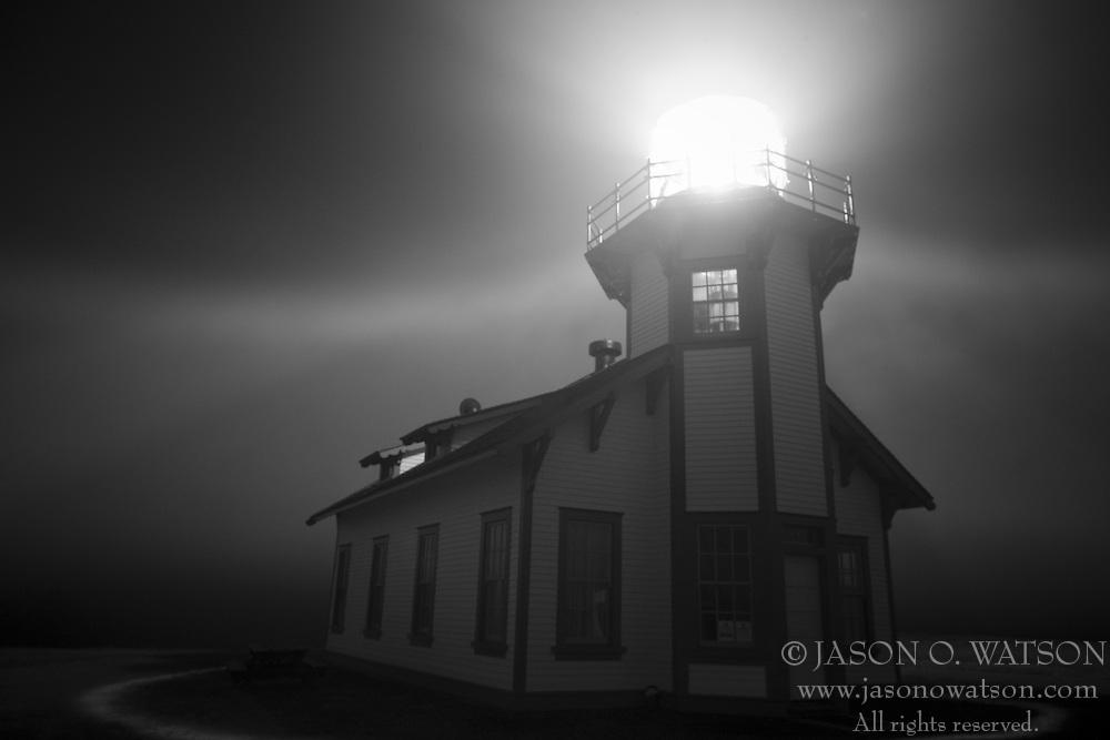Point Cabrillo lighthouse / Caspar Headlands State Beach near Mendocino, California, USA.