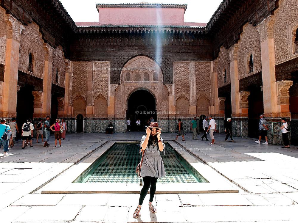 MAROC, Marrakesh: Medersa Ben Youssef Morocco