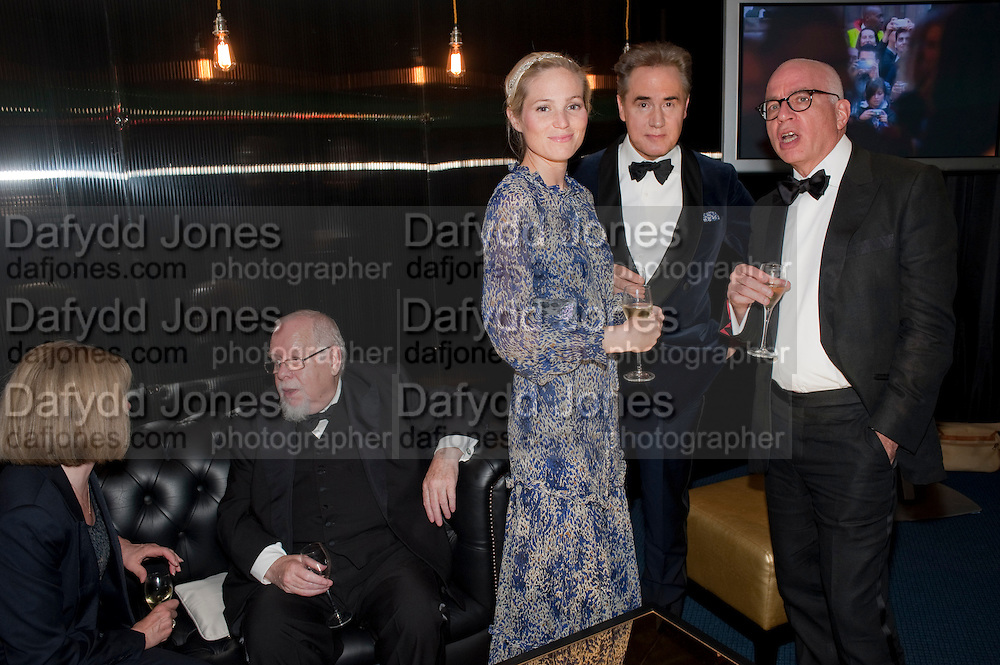 LADY BLAKE; SIR PETER BLAKE; VICTORIA FLOETHE; PETER YORK, MICHAEL WOLFF; GQ Man of the Year awards. The royal Opera House. Covent Garden. London. 6 September 2011. <br /> <br />  , -DO NOT ARCHIVE-© Copyright Photograph by Dafydd Jones. 248 Clapham Rd. London SW9 0PZ. Tel 0207 820 0771. www.dafjones.com.