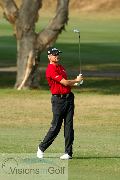 Martin Erlandsson on the par-five 3rd.<br /> 2 December 2005. UBS Hong Kong Open, Composite Course, Hong Kong Golf Club, Fanling, N.T.,  Hong Kong. Mandatory credit: Richard  Castka/Sportpixgolf.com