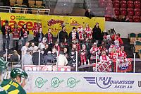 2020-01-17 | Umeå, Sweden: Timrå IK supporters in HockeyAllsvenskan before the game  between Björklöven and Timrå at A3 Arena ( Photo by: Michael Lundström | Swe Press Photo )<br />  <br /> Keywords: Umeå, Hockey, HockeyAllsvenskan, A3 Arena, Björklöven, Timrå, mlbt191023