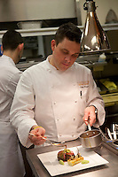 .the kitchen of Cafe Boulud, NYC..Chef Gavin Kaysen