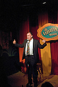 Comedian Matt Kordelski at the Velveeta Room in Austin Texas, January 23, 2009. The Velveeta Room is on Sixth street, the heart of Austin's entertainment district.