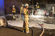 fire fighter extinguish 14 vehicles