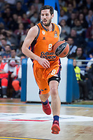 Valencia Basket Sam Van Rosso during Turkish Airlines Euroleague match between Real Madrid and Valencia Basket at Wizink Center in Madrid, Spain. December 19, 2017. (ALTERPHOTOS/Borja B.Hojas)