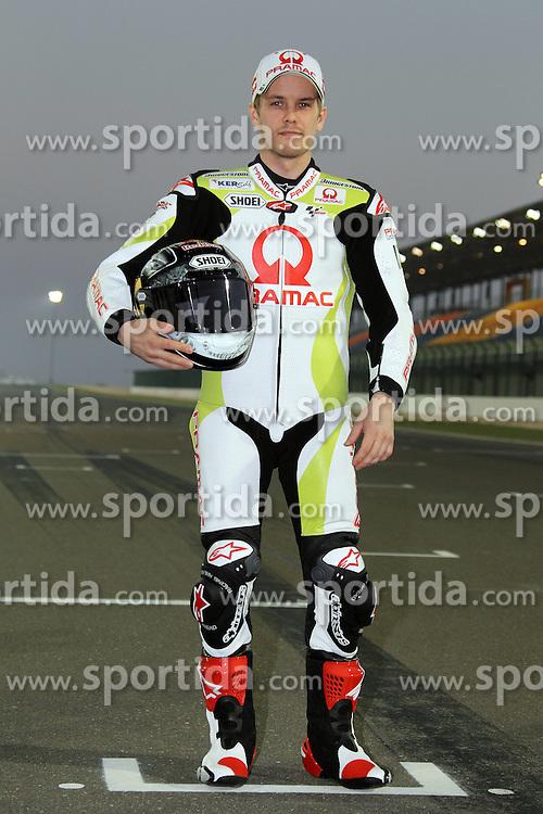 19.03.2010, Doha, Katar, QAT, MotoGP, Fahrerfotos im Bild Mika Kallio - Ducati racing team, EXPA Pictures © 2010, PhotoCredit: EXPA/ InsideFoto/ Semedia / SPORTIDA PHOTO AGENCY