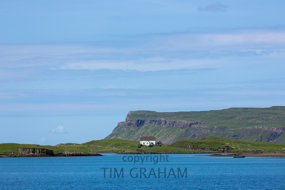 Church on the Isle of Canna part of the Inner Hebrides and the Western Isles of Scotland