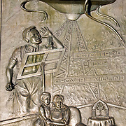 "1938 Martial Landing Site Monument.......Monument commemorates Orson Welles' famous broadcast of a radio adaptation of H.G.Wells' ""War of the Worlds"" in which a Martian invasion force landed at Grovers Mill, New Jersey. The broadcast was initially believed to be true by many."