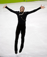 USA's Evan Lysacek performs during the free program of men's figure skating Thursday at the 2010 Olympic Winter Games in Vancouver, BC.
