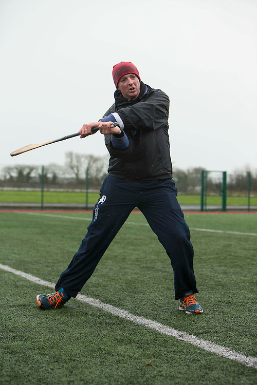 Hurling Coaching Conference at Meath Centre of Excellence, Dunganny, 20th February 2016<br /> Goalkeeping coach, Christy O`Conner (Clare) demonstrating his techniques at the Hurling Coaching Conference at Meath Centre of Excellence, Dunganny<br /> Photo: David Mullen /www.cyberimages.net / 2016