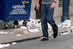 Litter on street London Borough of Lambeth UK