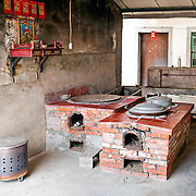 Traditional kitchen with kitchen god, YongAn Road, Meinong Township, Kaohsiung County, Taiwan