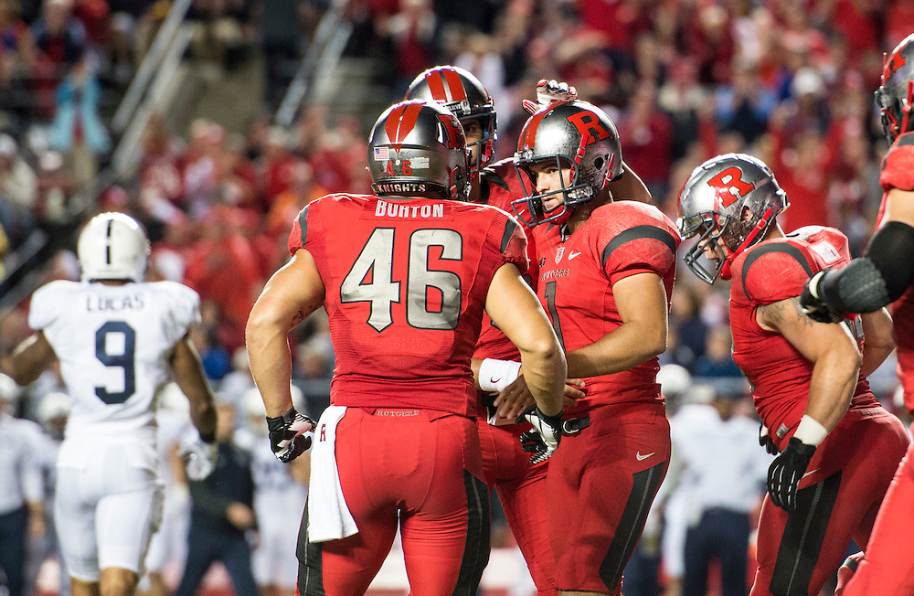 The Rutgers Scarlet Knights take on the Penn State Nittany Lions at HighPoint Solutions Stadium in Piscataway, NJ on Saturday night, September 13, 2014.<br /> Ben Solomon/Rutgers Athletics