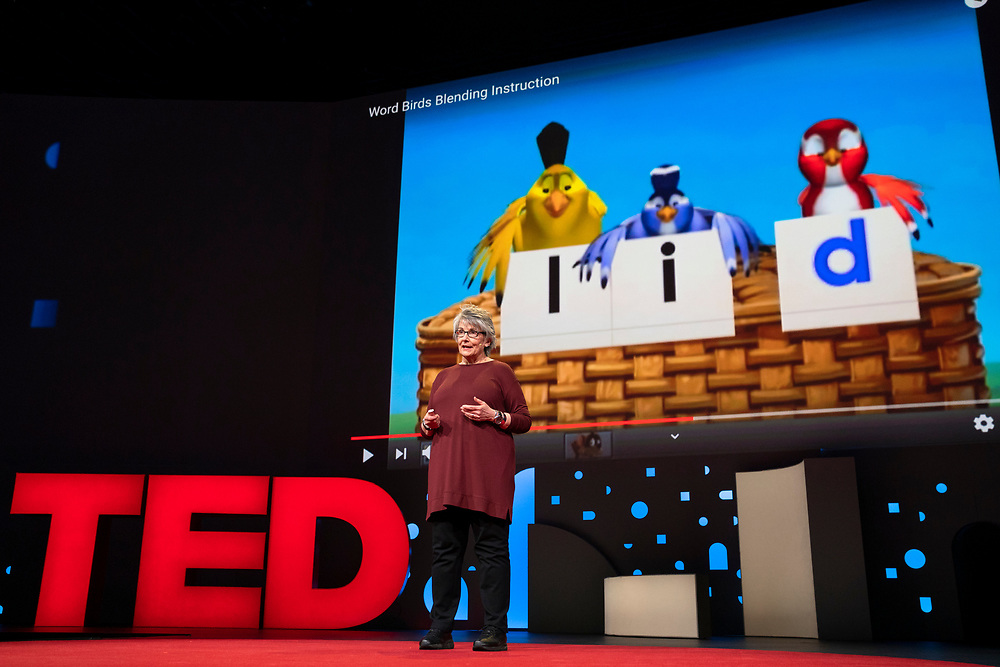 Claudia Miner speaks at TED2019: Bigger Than Us. April 15 - 19, 2019, Vancouver, BC, Canada. Photo: Bret Hartman / TED