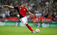 Photo: Richard Lane/Sportsbeat Images.<br />England v Germany. International Friendly. 22/08/2007. <br />Germany's Christian Pander scores their second goal.