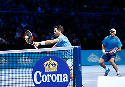 21-11-2015 GBR: ATP Tennis Tour Finals day 7, London<br /> Jean-Julien Rojer (NED) and Horia Tecau (ROU) defeat Bob Bryan (USA) and Mike Bryan (USA) by a score of 6-4, 6-4 in their semi final match<br /> <br /> ***NETHERLANDS ONLY***