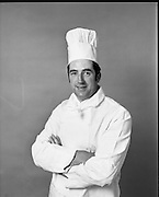 Chef, Andy Whelan.<br /> 1972.<br /> 09.08.1972.<br /> 08.09.1972.<br /> 9th August 1972.<br /> Portrait of Chef, Mr Andy Whelan. Picture taken on behalf of An Bord Iascaigh Mhara, (BIM).