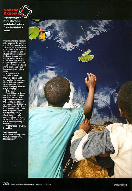 NEW INTERNATIONALIST Magazine<br /> September 2007 - Southern Exposure column.<br /> Worldwide publication.