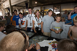 27 May 2007: Duke Blue Devils sign autographs at M&T Bank Stadium in Baltimore, MD.