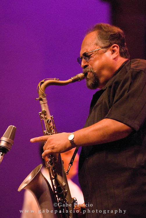 The Joe Lovano/Paquito D'Rivera Festival Ensemble performing at the JAZZ FESTIVAL II of the Caramoor 2007 International Music Festival in Katonah, New York.<br /> photo by Gabe Palacio