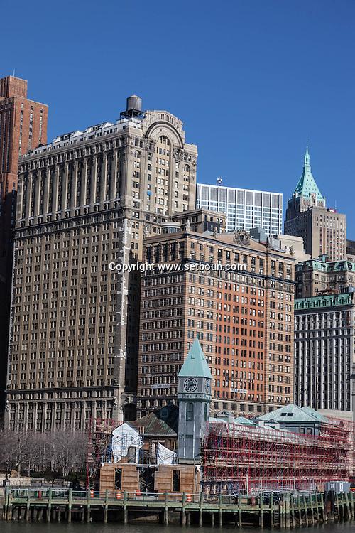 New York , Lower Manhattan, Architecture, / architecture dans le quartier sud  de Manhattan