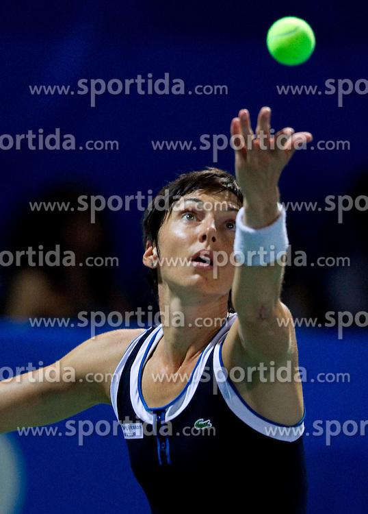 Jasmin Woehr of Germany at 2nd Round of Doubles at Banka Koper Slovenia Open WTA Tour tennis tournament, on July 21, 2010 in Portoroz / Portorose, Slovenia. (Photo by Vid Ponikvar / Sportida)