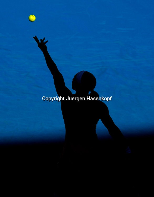 Australien, Melbourne, Sport, Tennis, Grand Slam Tournament, Melbourne Park, Australian Open 2010,..Serena Williams (USA)..Foto: Juergen Hasenkopf ..