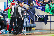 Fleetwood Town manager Joey Barton  during the EFL Sky Bet League 1 match between Bolton Wanderers and Fleetwood Town at the University of  Bolton Stadium, Bolton, England on 2 November 2019.