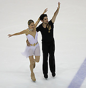 06 Aug 2009: Kim Navarro and Brent Bommentre of the Philadelphia Skating Club and Humane Society skate in the Senior Free Dance at the 2009 Lake Placid Ice Dance Championships in Lake Placid, N.Y.  The couple placed first at the event.    © Todd Bissonette