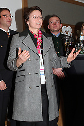 07.02.2013, Haus Ski Austria, Schladming, AUT, FIS Weltmeisterschaften Ski Alpin, Schladming-Abend, im Bild FIS-Generalsekretaerin Sarah Lewis mit einem original Schladminger Gehrock // FIS general secretary Sarah Lewis with her new traditional costume Schladminger Gehrock at the Schladming-evening during FIS Ski World Championships 2013 at the Ski Austria House, Schladming, Austria on 2013/02/07. EXPA Pictures © 2013, PhotoCredit: EXPA/ Martin Huber