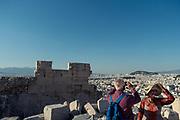 Athen, visiting the Acropolis