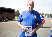 Ipswich Town fan before the EFL Sky Bet League 1 match between Bolton Wanderers and Ipswich Town at the University of  Bolton Stadium, Bolton, England on 24 August 2019.