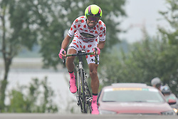 September 15, 2017 - Chenghu City, China - Mauricio Ortega Raminez from Monton Racing Team during the fourth stage of the 2017 Tour of China 1, the 3.3 km Chenghu Jintang individual time trial. .On Friday, 15 September 2017, in Jintang County, Chenghu City,  Sichuan Province, China. (Credit Image: © Artur Widak/NurPhoto via ZUMA Press)