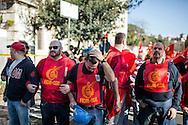 28 Marzo 2015, Roma, Italia. Manifestaione Fiom-Cgil, Unions.