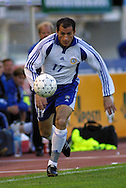 02.06.2001 Olympic Stadium, Helsinki, Finland. FIFA World Cup Qualifying Match, Finland v Germany. Shefki Kuqi (FIN)..©JUHA TAMMINEN